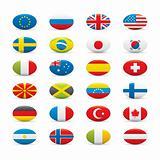 World Flags Icon Set on White background