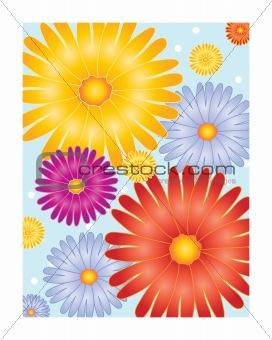 bright flower design