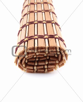 folded bedding wooden tea isolated
