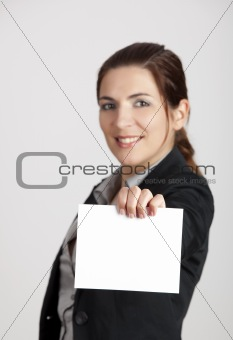 Holding a cardboard