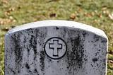 Cemetery Headstone with cross