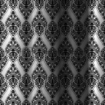 black seamless curtain