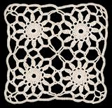 Doily square ornament