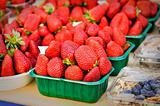 Organic Strawberries and blueberries