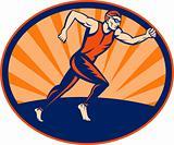 Triathlon athlete runner running
