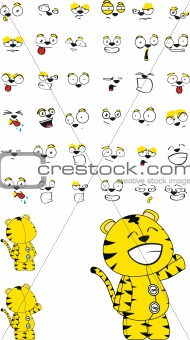tiger  cartoon set