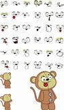 monkey cartoon set