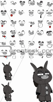 donkey cartoon set