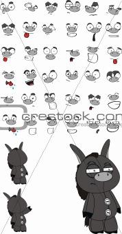 donkey cartoon set