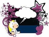unicorn plush card cartoon