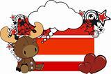 reindeer plush card cartoon