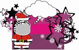 zebra cartoon xmas card