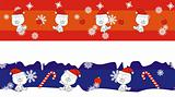 polar bear claus cartoon banner