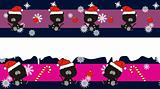 panther claus cartoon banner