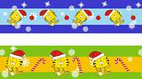 tiger claus cartoon banner
