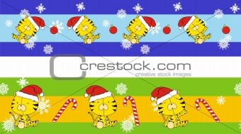 tiger claus cartoon banner