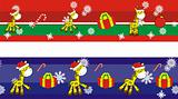 giraffe cartoon xmas banner