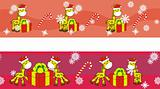 giraffe cartoon xmas banner 2