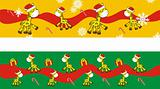 giraffe cartoon xmas banner 4