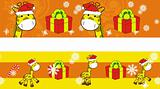 giraffe cartoon xmas banner 8