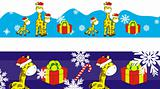 giraffe cartoon xmas banner 9
