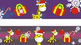 giraffe cartoon xmas banner 10