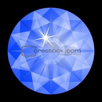 blue diamond against black