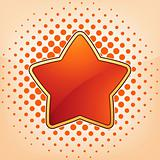 Vector star, abstract design element. EPS 8