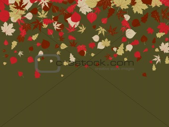 Autumn retro background. EPS 8