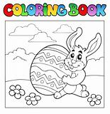 Coloring book with Easter theme 1