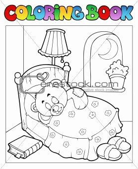 Coloring book with teddy bear 1