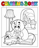 Coloring book with teddy bear 2