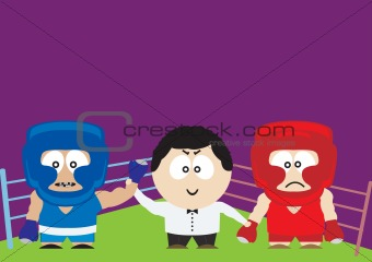 Boxers. Vector illustration for you design