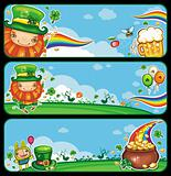 St Patrick&#39;s Day cartoon banners