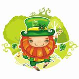 St. Patrick&#39;s Day leprechaun series 4