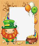 St Patrick&#39;s Day cartoon frame