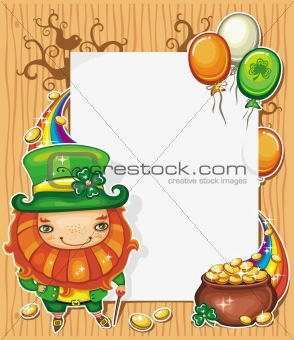 St Patrick's Day cartoon frame