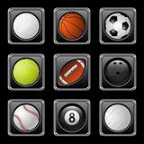 Sports balls icons