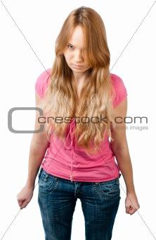 angry teenage girl