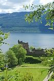 ruins of castle Urquhart on loch Ness