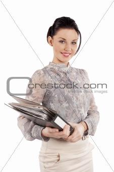 cute woman secretary