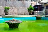 Taman sari water castle green pool