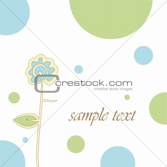 abstract background with a flower