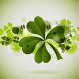 St. Patrick's background with clover, vector, eps10