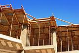 Concrete shuttering on a construction site