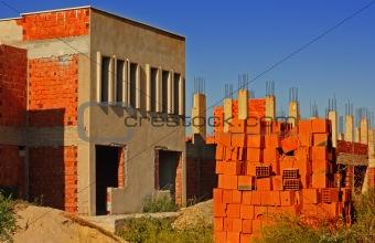 Old deserted building site