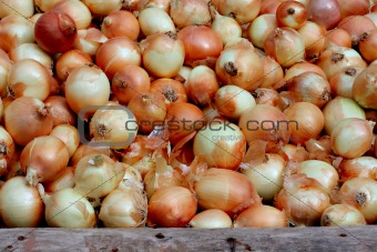 Small onions for sale at street market