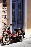Old rusty motorbike in Samos