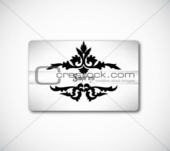 Beautiful gift card. Vector
