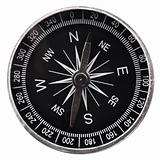 compass and white copyspace
